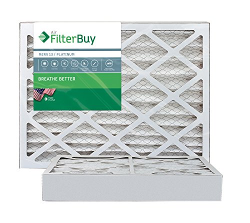 AFB Platinum MERV 13 18x22x4 Pleated AC Furnace Air Filter. Pack of 2 Filters. 100% produced in the USA.