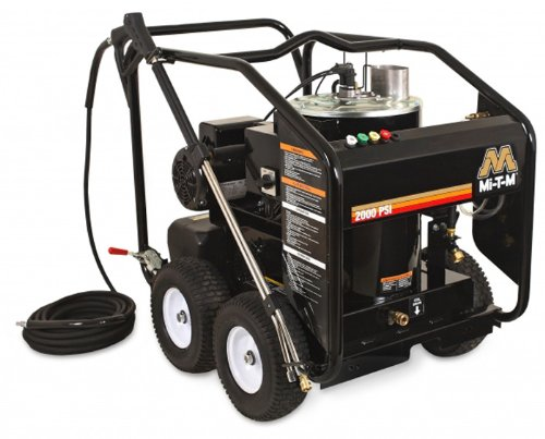 Mi-T-M Hse-1502-0Mm11 Hse Series Hot Water Electric Direct Drive, 2.0 Hp Motor, 120V, 19A, 1500 Psi Pressure Washer