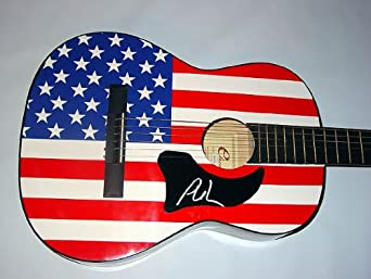 PHIL VASSAR Autographed Signed USA FLAG Guitar PSA/DNA