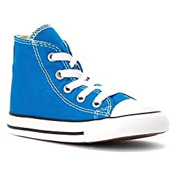 Converse Baby Boy\'s Chuck Taylor All Star Hi (Infant/Toddler) - Cyan Space - 4 Infant