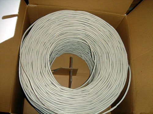 VideoSecu 1000 Feet Cat 5e Cable 4 Pair 24 AWG UTP UL Pure Copper Ethernet Network Cable 1RT