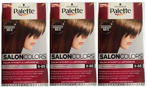3 x schwarzkopf palette salon couleurs coloration cheveux 6 65 fonc or blonde permanent - Palette Coloration Cheveux
