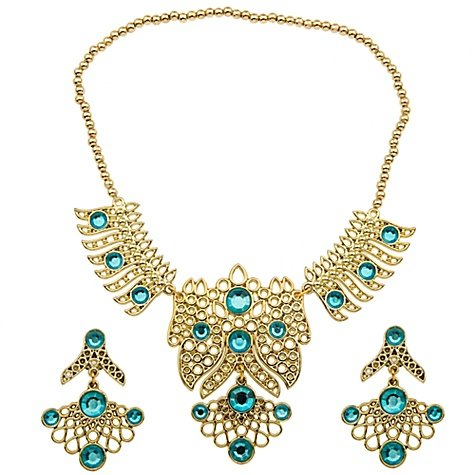 Disney Store Princess Jasmine Jewelry Costume Accessories Set: Necklace/Earrings