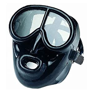 Full Face Black Silicone Dive Mask - Scuba Mask by IST