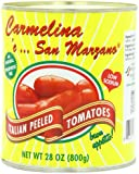 Carmelina Brands, Italian Whole Peeled Tomatoes In Puree, 28 Ounce (Pack of 6)