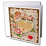 3dRose Vintage My Valentine Cupid - Greeting Cards, 6 x 6 inches, set of 12 (gc_8079_2)