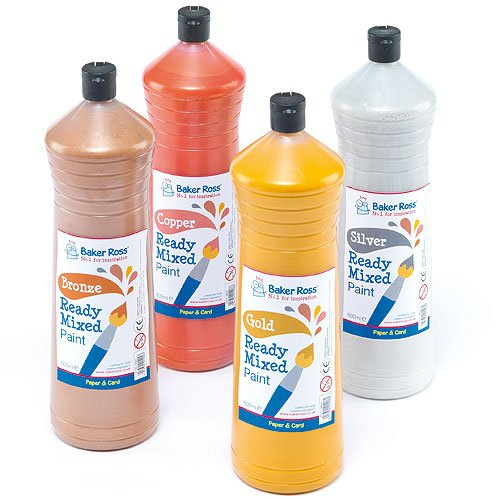 ready-mixed-metallic-paint-gold-600ml-water-based-paint-for-childrens-painting-crafts