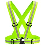Allnice® Reflective Safety Vest -- Lightweight, Elastic, Easily Adjustable Sports Gear䞚Safety & High Visibility for Running, Jogging, Walking, Cycling