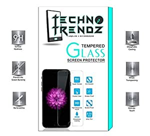 Techno TrendZ New Transparent Crystal Ultra Clear Tempered Glass 2.5D Curve Edges Scratch Shock Resistant Tempered Glass for iBerry Auxus Prime P8000