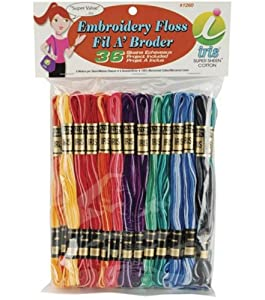Amazon Iris 36Pack Embroidery Floss Pack 8m