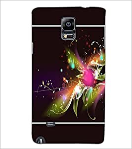 PrintDhaba Floral Pattern D-1385 Back Case Cover for SAMSUNG GALAXY NOTE 2 (Multi-Coloured)