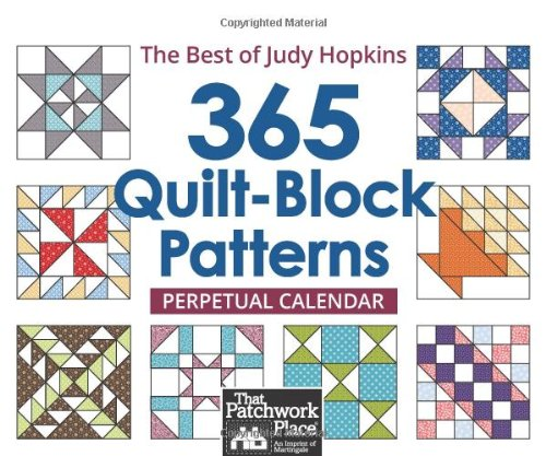 365 Quilt-Block Patterns Perpetual Calendar: The Best of Judy Hopkins (365 Day Quilt Block Calendar compare prices)
