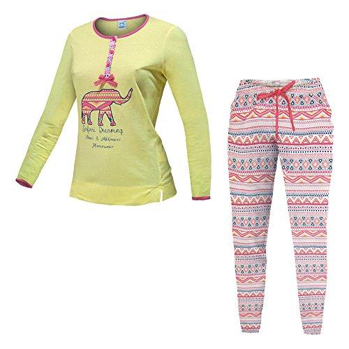 Pigiama Donna BACI E ABBRACCI Cotone Jersey 2 Colori Serafino Art.45042 ( Mimosa - 48 / XL)