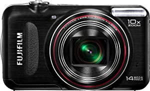 Fujifilm FinePix T300 14 MP Digital Camera with Fujinon 10x Wide Angle Optical Zoom Lens (Black)