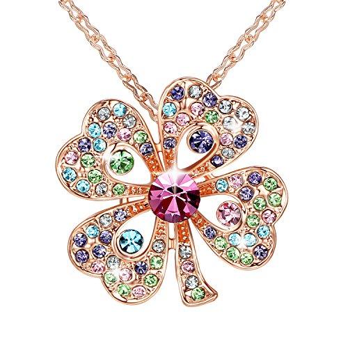 gosparking-multicolor-collar-pendiente-cristalino-del-oro-de-18k-rose-plateo-el-trebol-de-cuatro-hoj