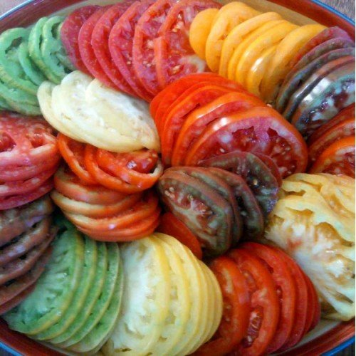 Beefsteak Tomato Rainbow Pack 10 Varieties DGS403050 (Multi Color) 250 Organic Heirloom Seeds by David's Garden Seeds
