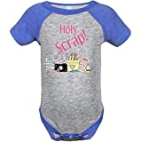 Inktastic Baby Boys' Holy Scrap Vintage Heather Bodysuit 12 Months Heather and Royal