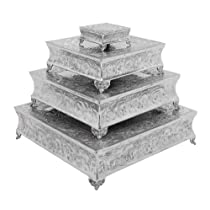 Square Set of 4 Cake Stands