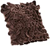 Brentwood Starburt Petals 16-Inch Pillow Brown