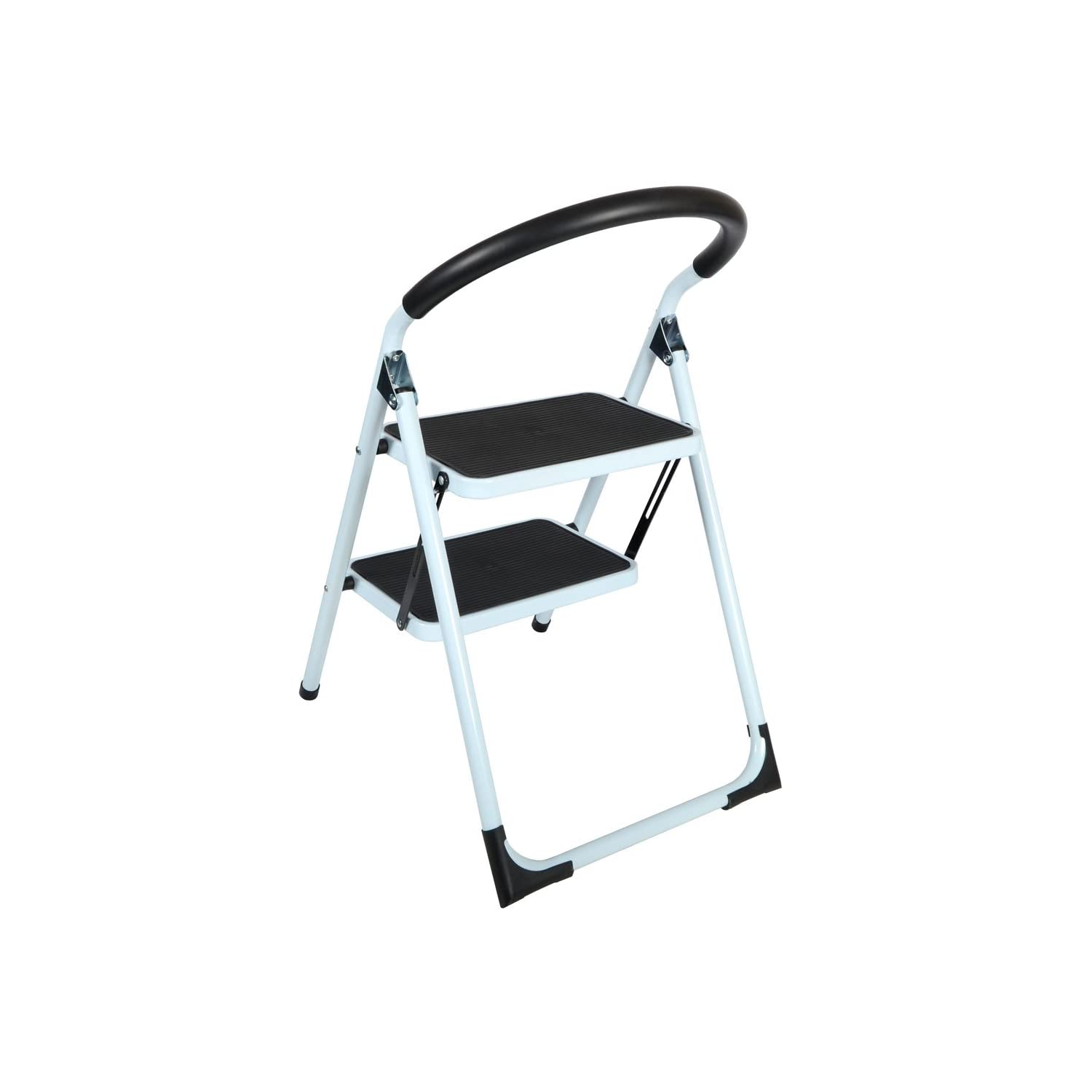 New 2 Tier Non Slip Folding Step Ladder Tread Stepladder
