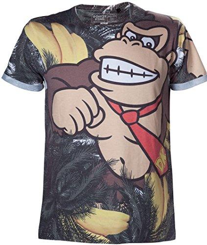T-shirt Nintendo 2XL Donkey Kong Banana sublimation shirt XXL misura in movimento