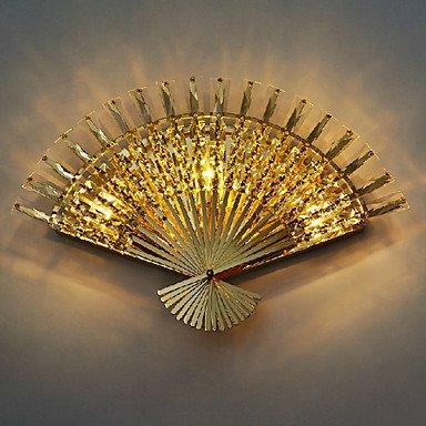 Fan Light Design mur, 3 Lumiššre, Creative cristal en mšŠtal de galvanoplastie
