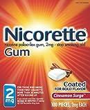 Nicorette Nicotine Polacrilex Gum, Cinnamon Surge, 2mg, 100 Count Box