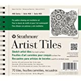 Strathmore Artist Tiles off-white sketch pad of 70 6 in. x 6 in.