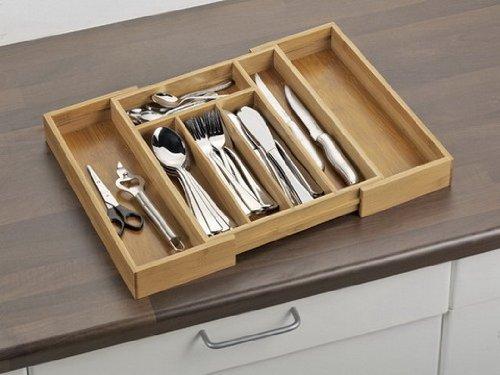 Esmeyer 457317 cassetto porta posate in legno regolabile ebay - Porta posate da cassetto ...