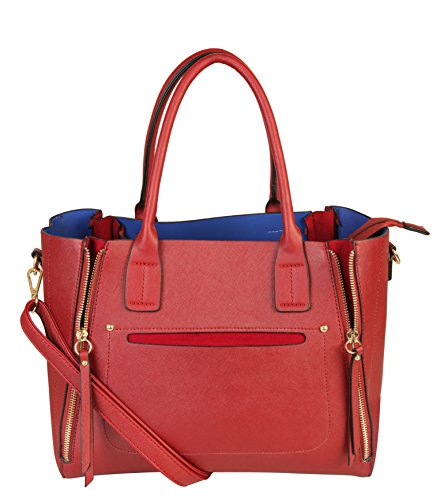 rimen-co-womens-front-zipper-handbag-fashion-taiga-leather-purse-sz-2810-red
