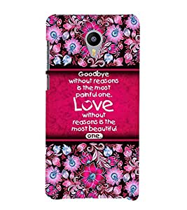 Love Quote 3D Hard Polycarbonate Designer Back Case Cover for Meizu M2
