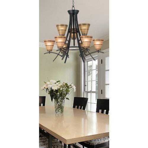 Kenroy Home 90089ORB Wright 9 Light Chandelier