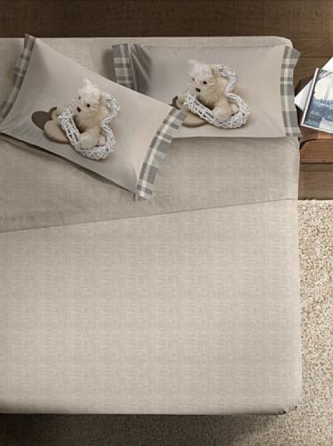 Ipersan Completo fotografico Fine-Art Disegno Mon Coeur beige/bianco matrimoniale