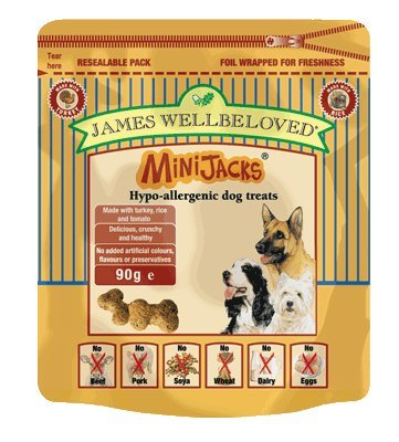 Artikelbild: James Wellbeloved MiniJacks Dog Treats Turkey 90g