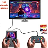 AB INC. built in 160+ games Handheld Game Console , Game Console 3 Inch almost 160+ Games Retro FC Game Player Classic Game Console 1 USB Charge GBA style , Birthday Presents for Children - Black (Color: Black)