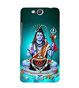 Lord Shiva Cute Fashion 3D Hard Polycarbonate Designer Back Case Cover for Micromax Canvas Juice 3+ Q394 :: Micromax Canvas Juice 3 Plus Q394