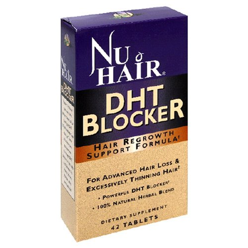 Nu Hair DHT Blocker Hair Regrowth Support Formula Tablets, 42-Count Bottle onSale