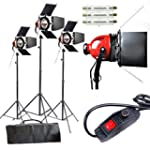 3 x 800W 2400W Photo Studio Video Red...