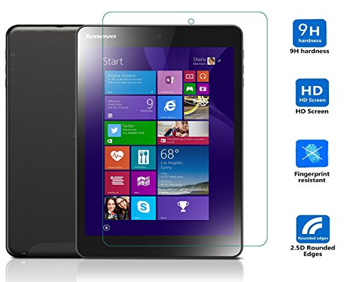 Lenovo MIIX 3-830 Displayschutzfolie, IVSO Hohe Qualität Glas Explosionsgeschützte Display Schutz Folie -mit ultra-Stärke, ultra-klare Transparenz für Lenovo MIIX 3-830 19,8 cm (7,8 Zoll HD IPS) Tablet-PC, Crystal Glass