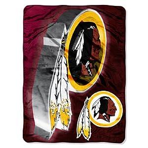 NFL Washington Redskins 60-Inch-by-80-Inch Micro Raschel Blanket, Bevel Design by Northwest