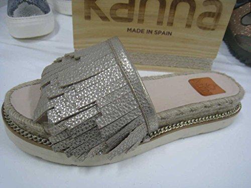 Kanna KV6382, Sandali donna Oro oro, Oro (oro), 39