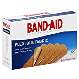 Band Aid Adhesive Bandages, Flexible Fabric, All One Size, 100 bandages