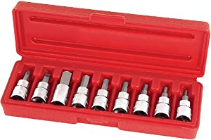 TEKTON 1365 3/8-Inch Drive Hex Bit Socket Set, Metric, 10-Piece from TEKTON