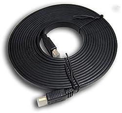 Smartcom - 5m Flat Hdmi Cable Black Color