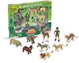 Includes Eco Ranger, Elephant, Rhinoceros, Zebra, Leopard, Lion, Cheetah, Giraffe, Hippopotamus;Each species features authentic markings and coloring;Highly detailed sculpting and hand painted