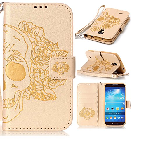 galaxy-s4-coque-flip-housse-wallet-protection-etui-cozy-hut-samsung-s4-bookstyle-etui-rose-skull-hou