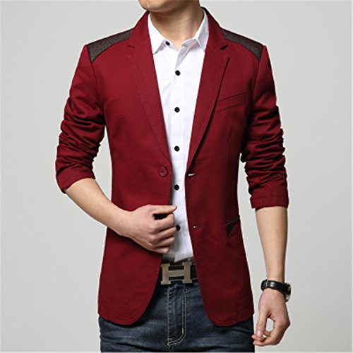 Carterd Air Permeability Fashion Men Blazer Splice Men Casual Suits Slim Fit Jacket Sping Costume Homme,Terno Masculino MJ276 (Morph Suit Price)