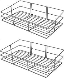Sakshi Enterprises Stainless Steel Rectangular Bathroom Shelf�Combo pack of 2