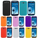 Tattaren Brands Set Of 13 Value Items 8 Silicone Covers + 2 Candy Gloss TPU Mobile Phone Cases w/ LCD Screen Protector + Stylus Pen + Cleaning Cloth for Samsung Galaxy S3 I9300 (Variable colours)by Tattaren Brands�