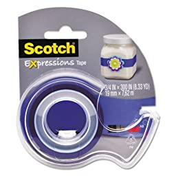 Scotch Expressions Magic Tape with Dispenser, 3/4\